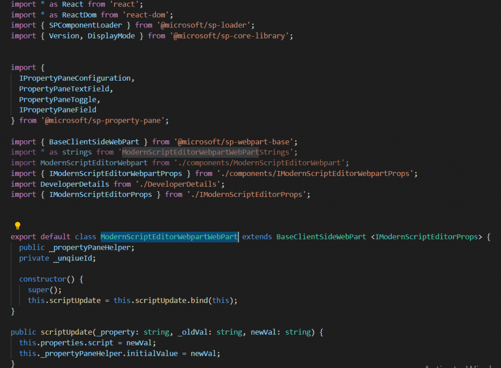spfx modern script editor