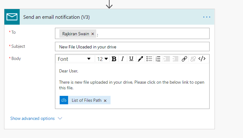 Power automate get email notification when a new file is added to OneDrive for Business