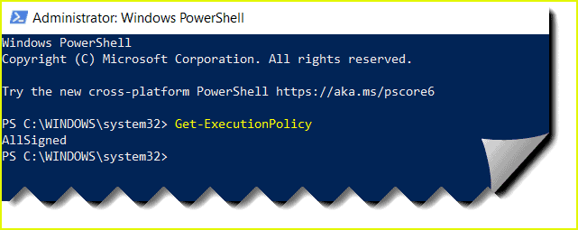 powershell error the file is not digitally signed