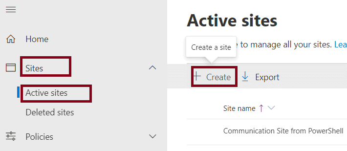 How to Create a team site without a group in Office 365