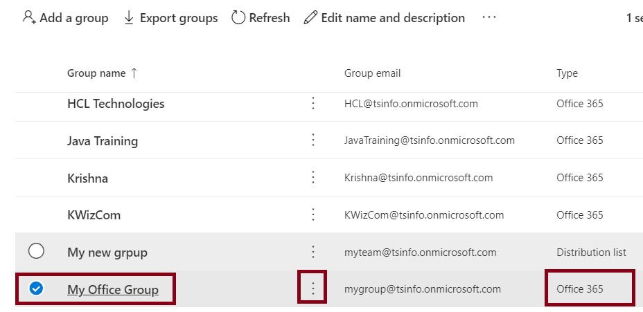 How to Delete a group in Office 365