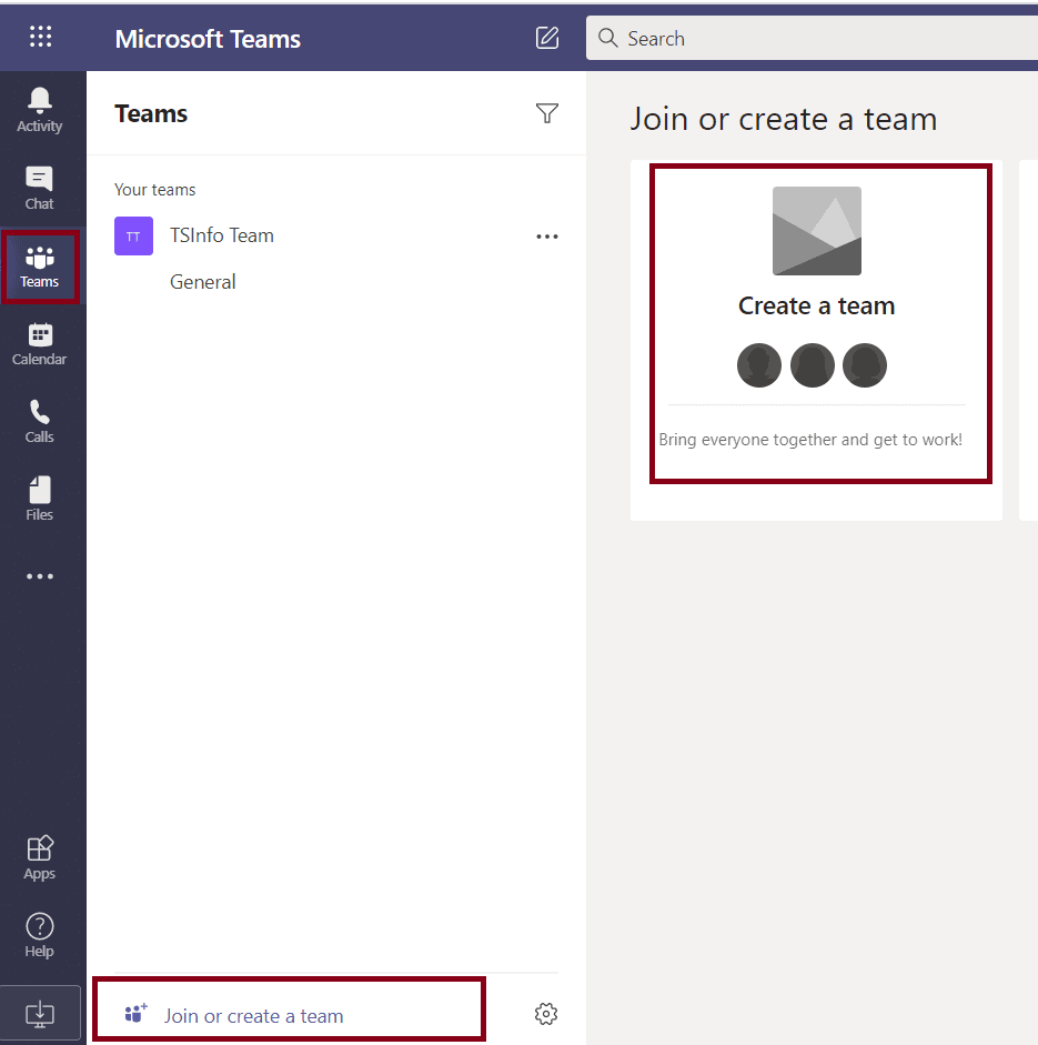 How to create a group in Office 365 Teams