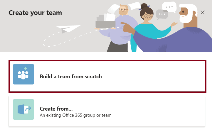 how to create group in microsoft teams