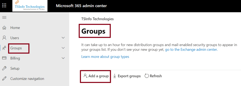 How to create a group in office 365