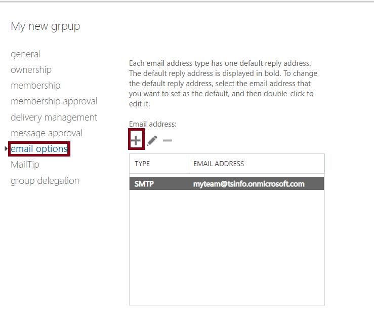 Office 365 distribution list Alias