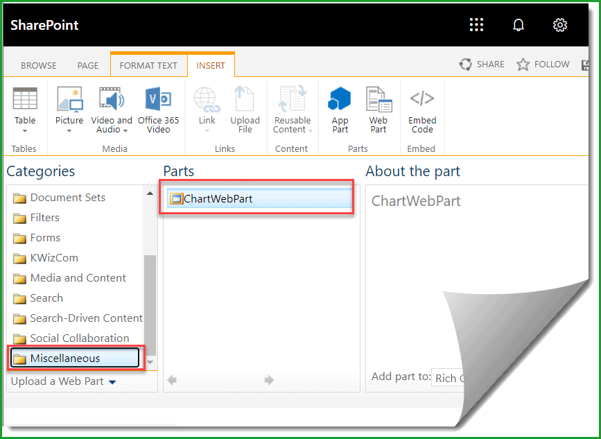 SharePoint 2013 Chart Web Part Missing