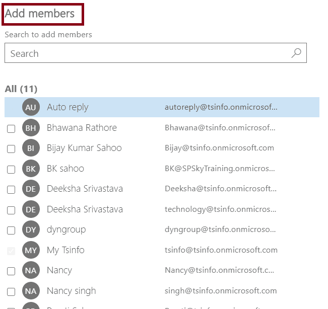 Office 365 distribution list Add Members