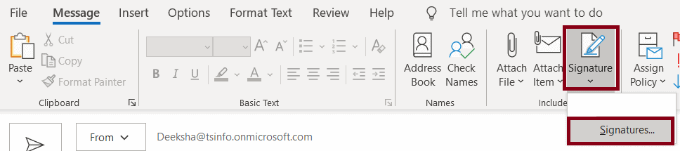 How to add signature in Outlook Desktop