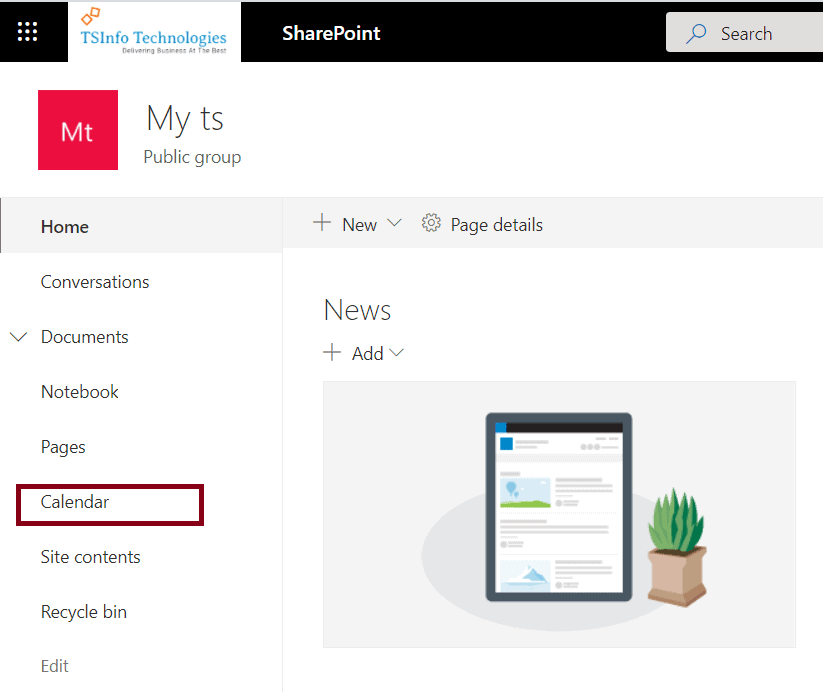 sharepoint calendar web part month view