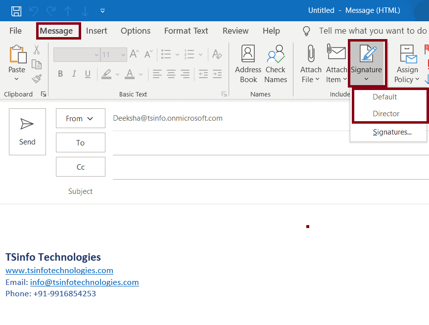 different signatures for different mailboxes in outlook