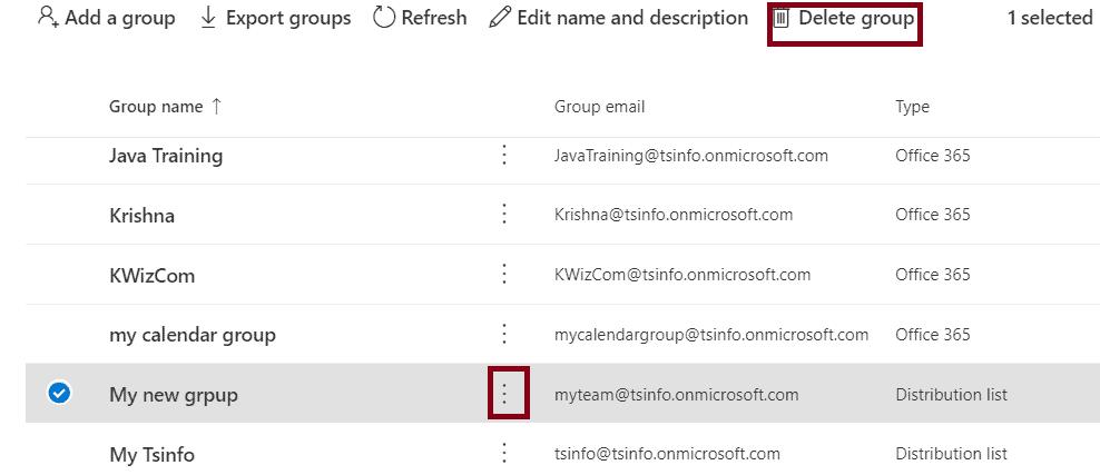 distribution list Add Members