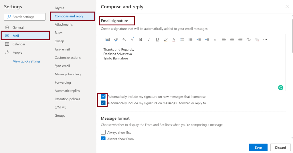 how to create signature in outlook webmail