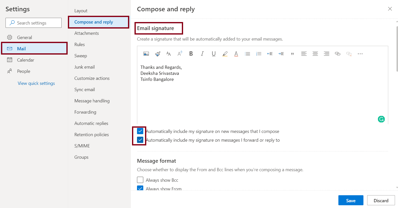 How to add signature in outlook