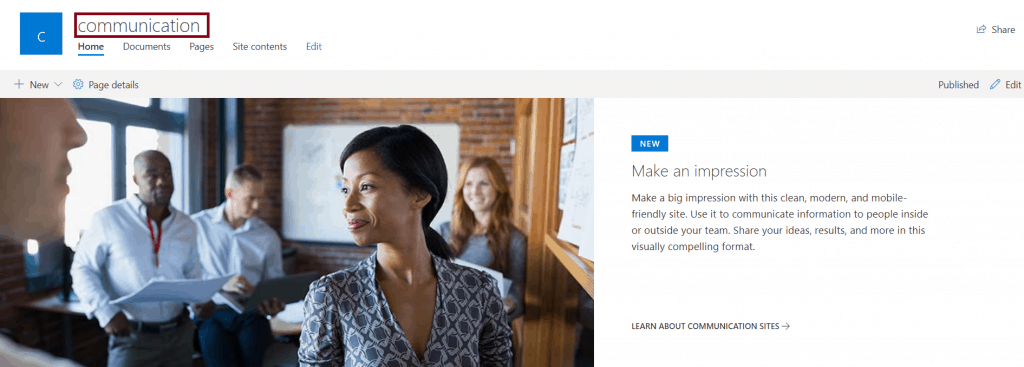 how to build a sharepoint communication site