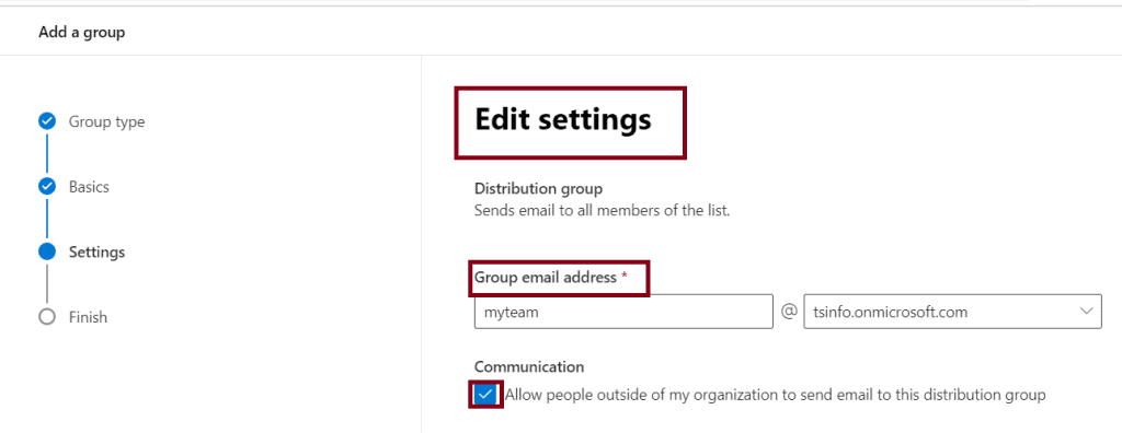 how to create a distro list in office 365