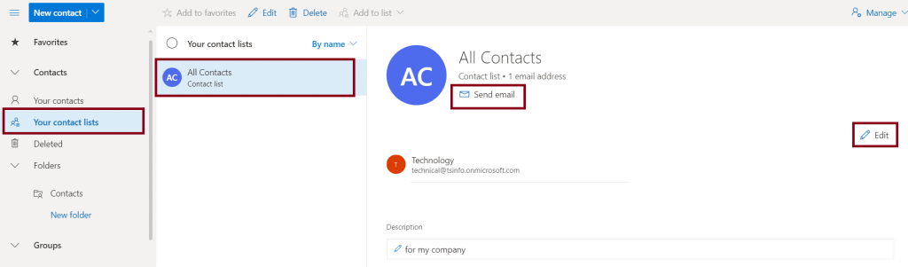 how to send an email to a lot of contacts in outlook