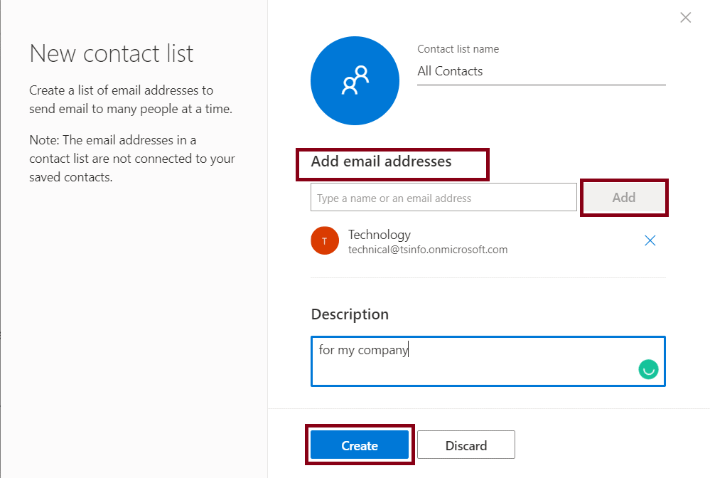how to send email to all contacts in outlook web app