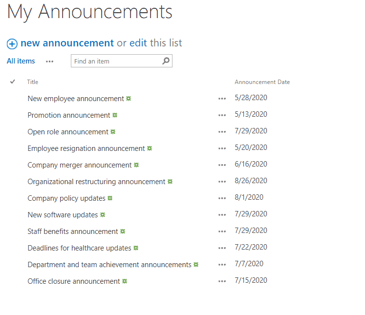 sharepoint hide expired announcements