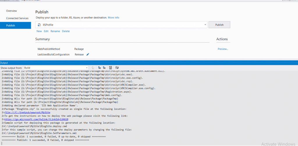 deploy web application to IIS Server in asp.net