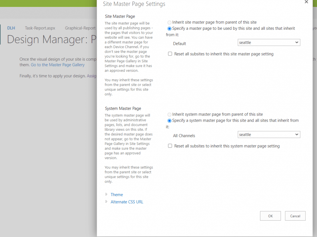 set master page in sharepoint 2013