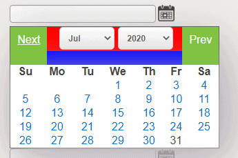 Disable specific date in jQuery calendar control