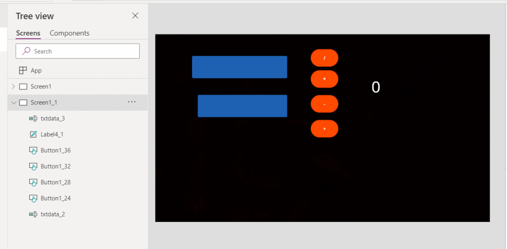 Build a calcular in power apps