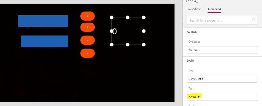 create calculator in powerapps
