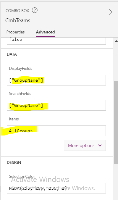 Fetch azure groups using Azure AD Connectors in powerapps