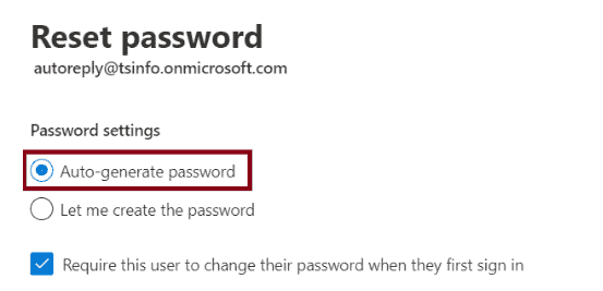 office 365 password reset self-service