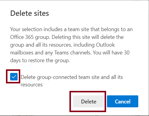 remove Multiple sites from SharePoint Admin Portal