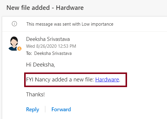 Flow for Notification to the people who created the file