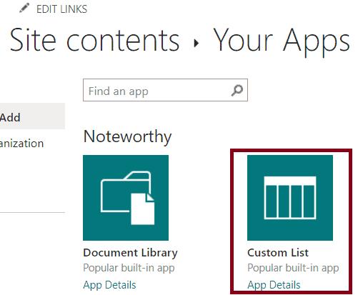 How do i create custom list in sharepoint