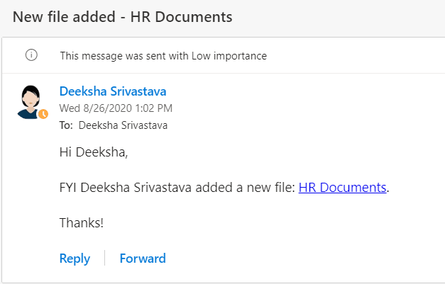 Send a customized email when a new file is added ms flow template