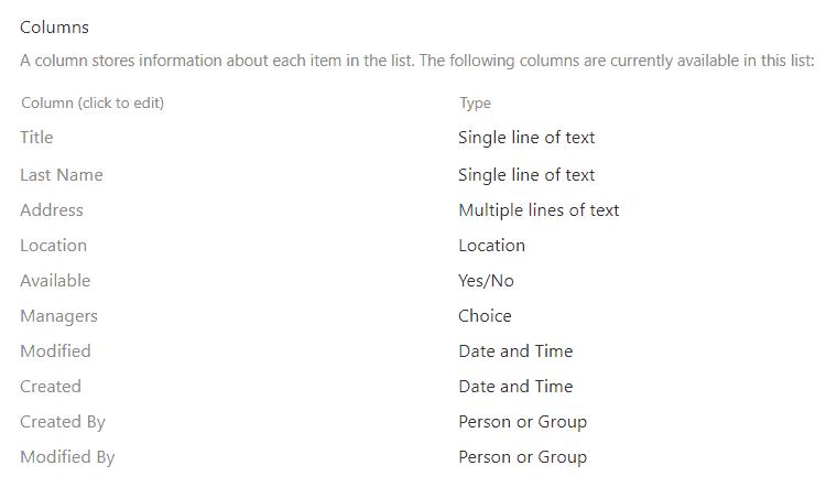 add column in sharepoint list