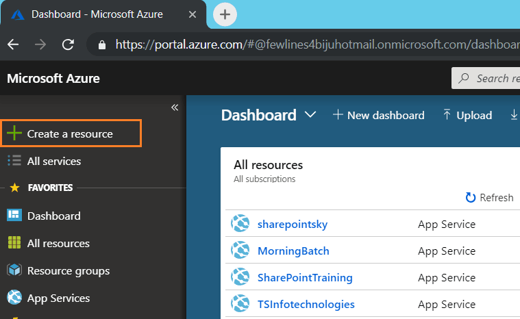 create vm in azure