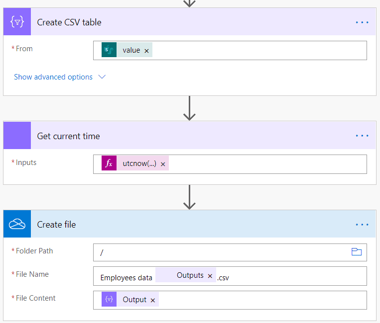 export SharePoint Online list to csv workflow