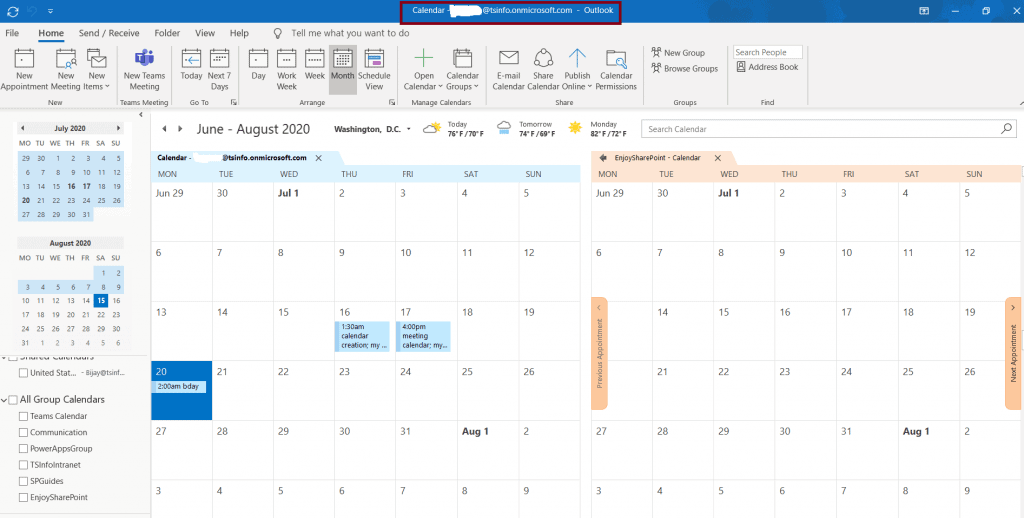 how to connect SharePoint calendar into Outlook