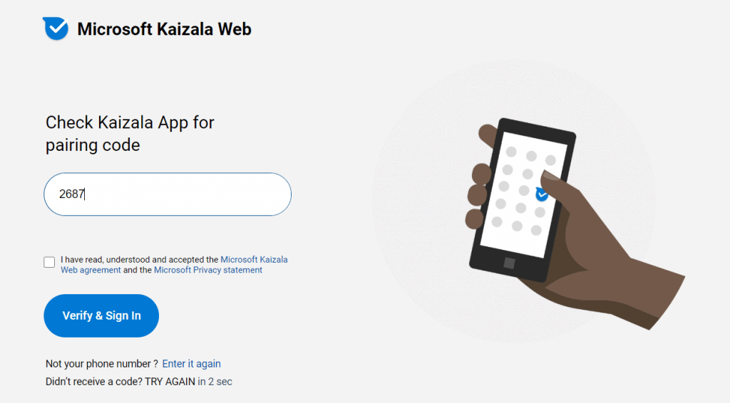 Create an account in Microsoft Kaizala