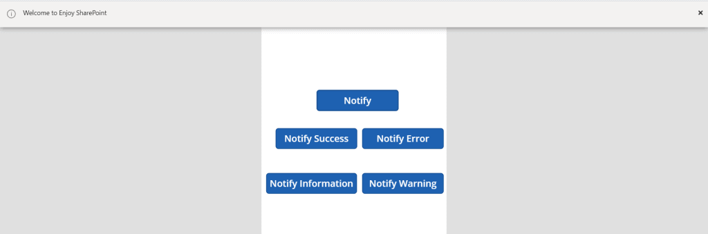 PowerApps notify information