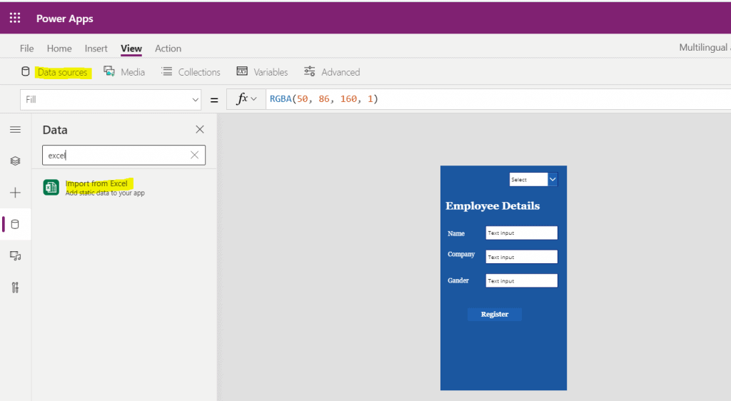 Build multilingual apps in PowerApps