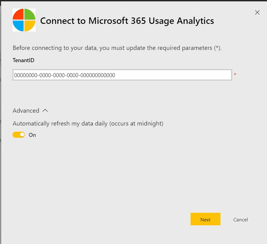 Microsoft 365 Usage Analytics report