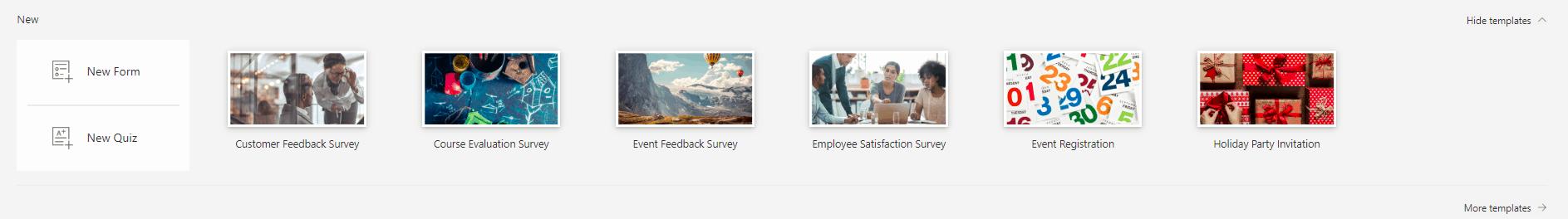 Microsoft Form survey templates