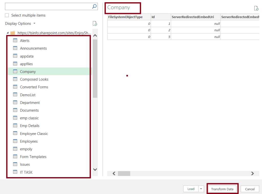 open a SharePoint list to excel