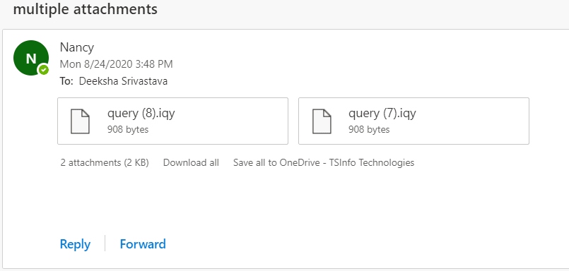 save multiple attachment in OneDrive
