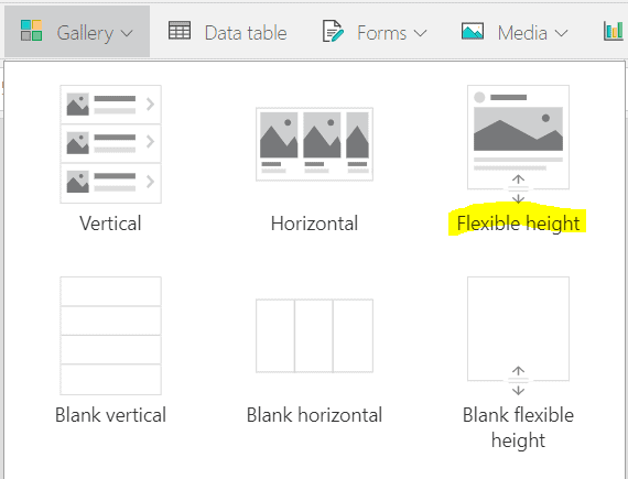 powerapps nested gallery auto height