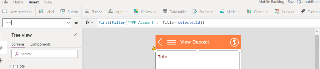 powerapps nested gallery control