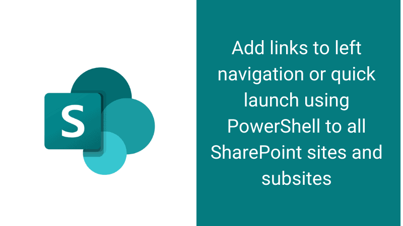 add links to left navigation using powershell