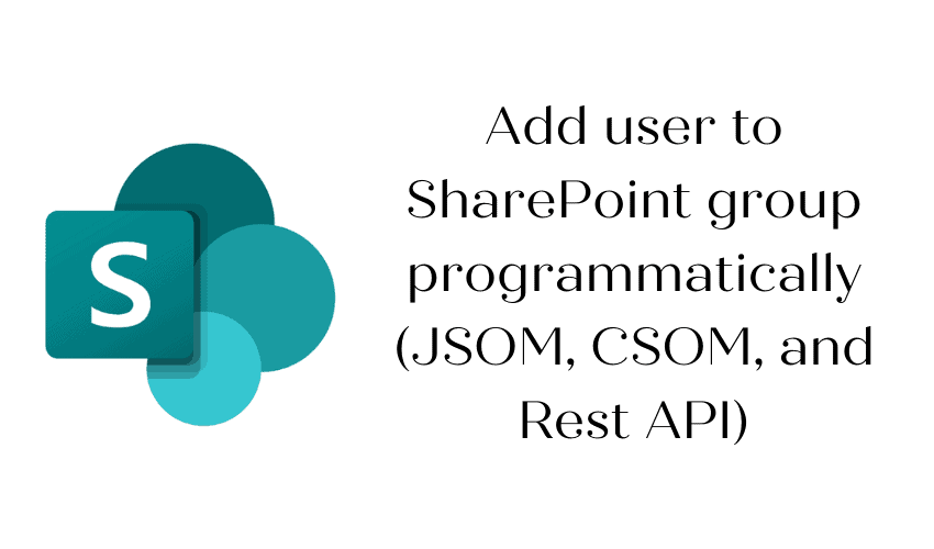 Add user to SharePoint group programmatically