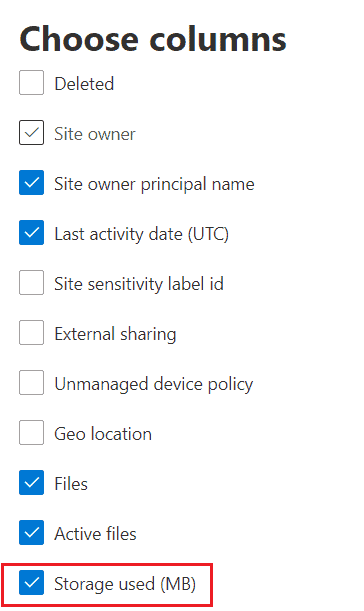 find the size of data in SharePoint site