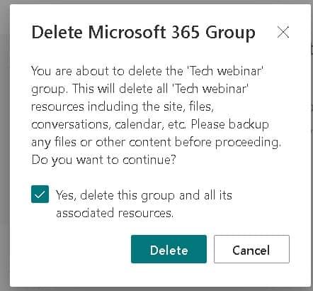 delete SharePoint online site